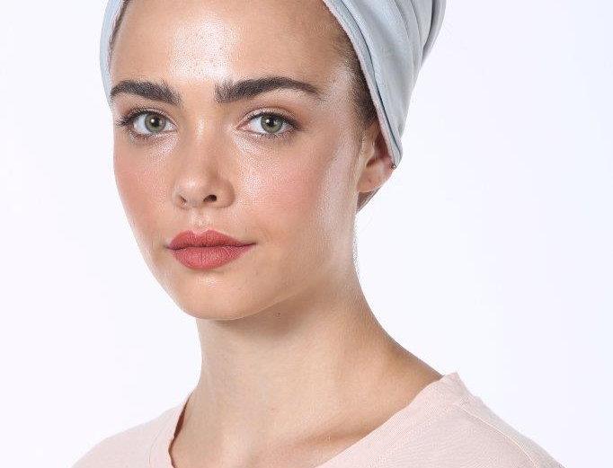 Partial/Full Turban - Basic Cotton Light Blue