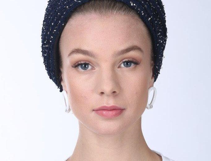 Partial/Full Turban - Velvet Knit Navy Blue