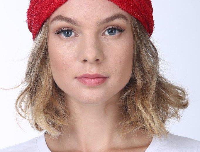 Thin Turban - Punched Red