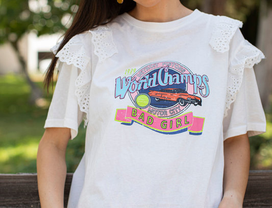 T-shirt with print - White