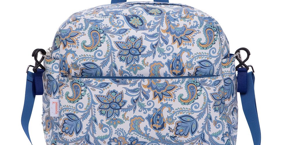 Baby Stroller Bag - Blue Flowers