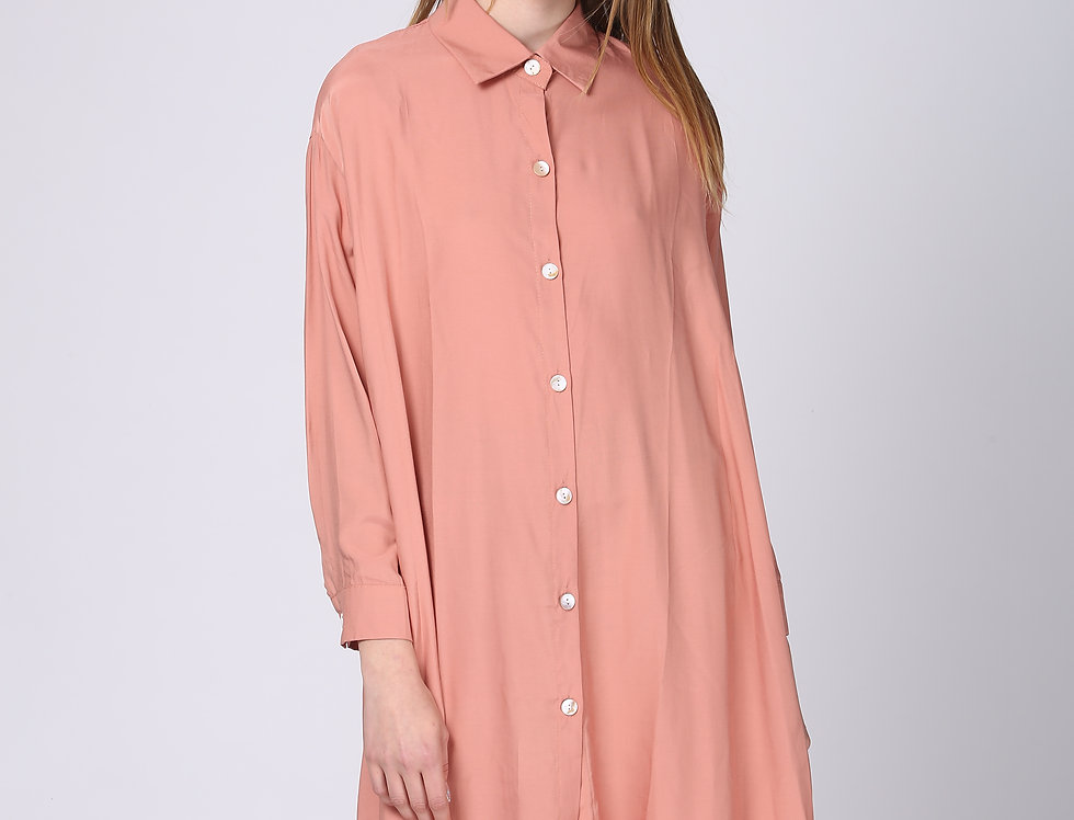 Oversize Button Siena Dress