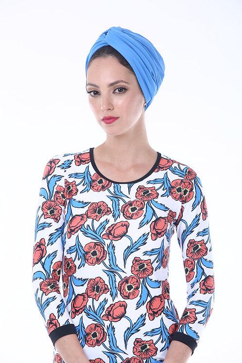 Blue Swim Turban