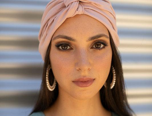 Thin Turban - Jersey Pink