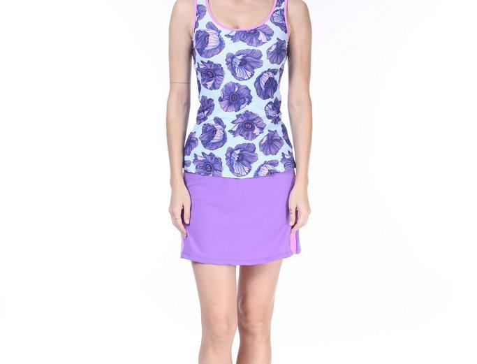 Tankini -Purple flowers