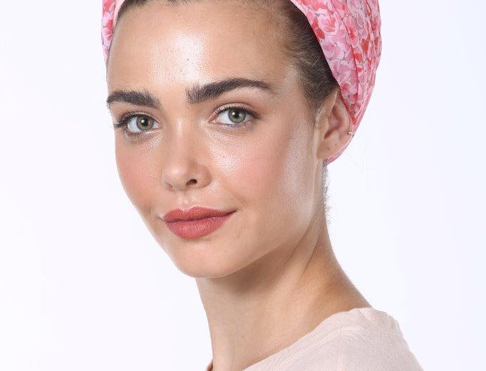 Knot Turban - Silky Pink Red Print