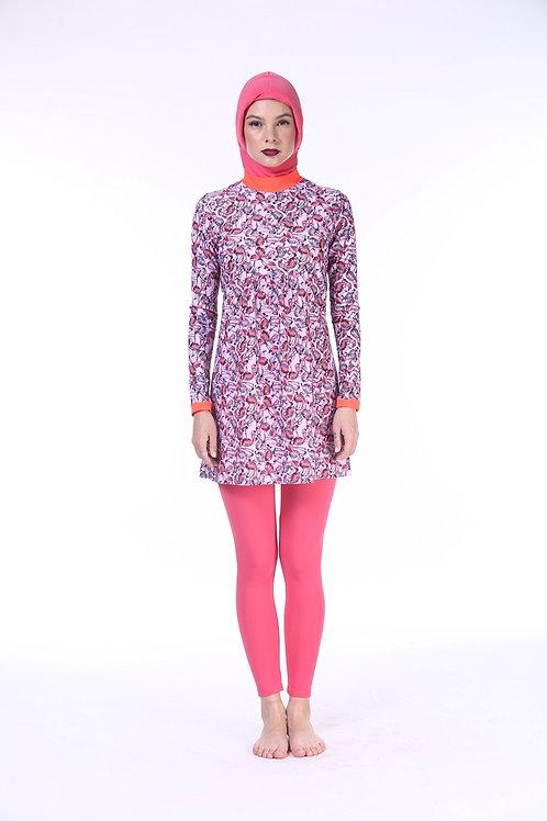 Burkini without Hijab - Flamingo