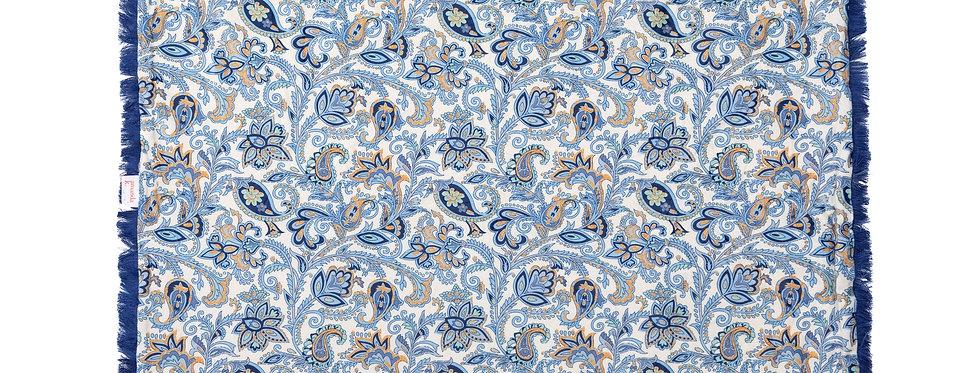 Baby Blanket - Blue Flowers