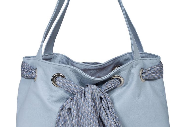 Powder blue leather bag