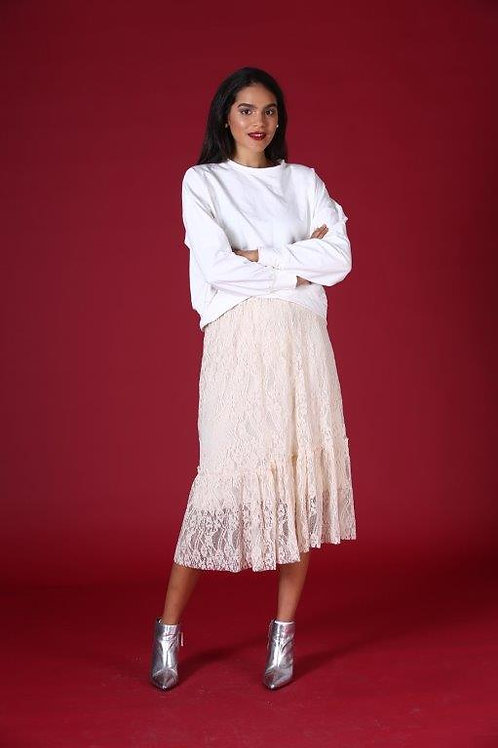 Star sweater -white