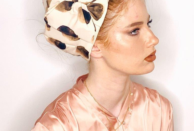 Partial/Full Bow Headband - Nude Brown