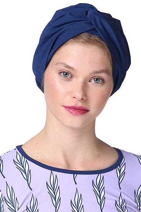 Navy Blue Swim Turban