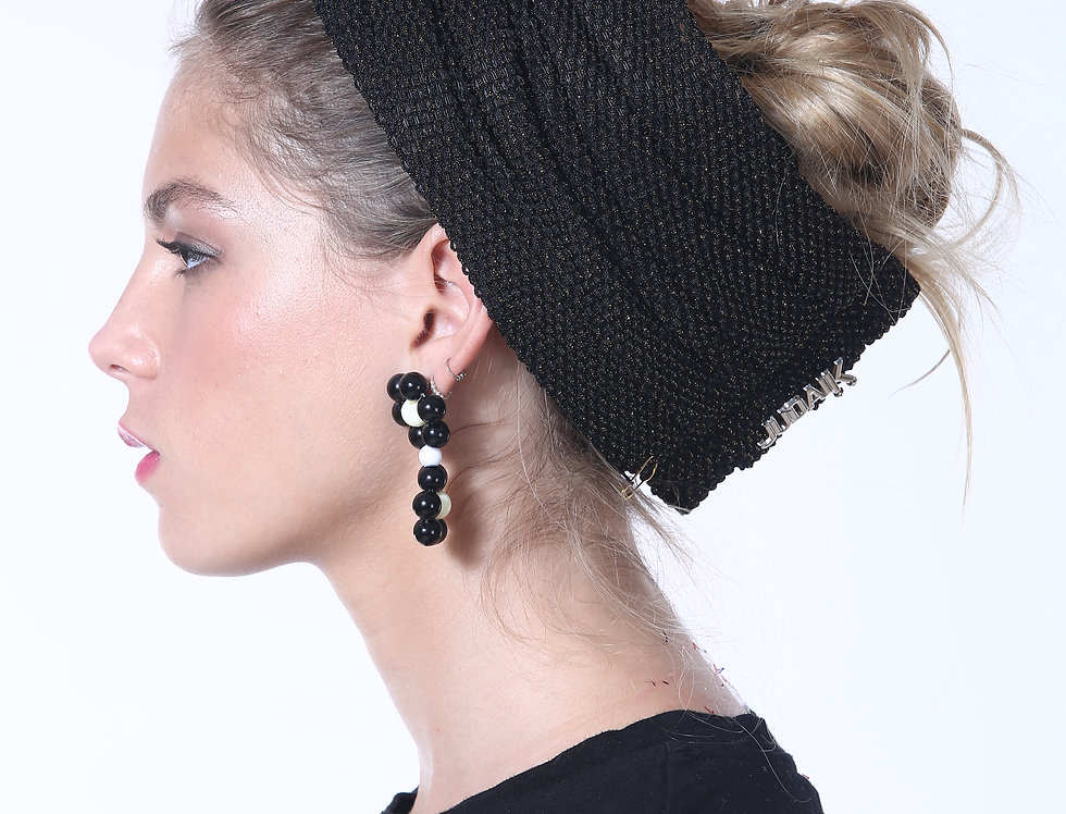 Partial/Full Turban - Fine Knitted Black