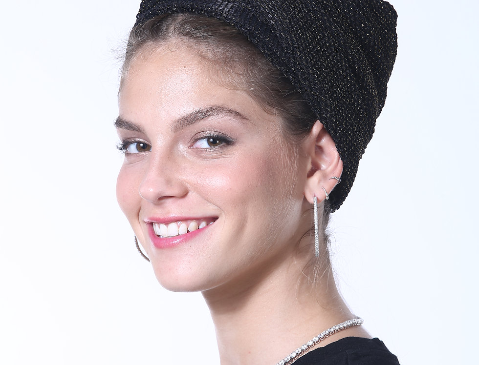 Knot Turban - Fine Knitted Black