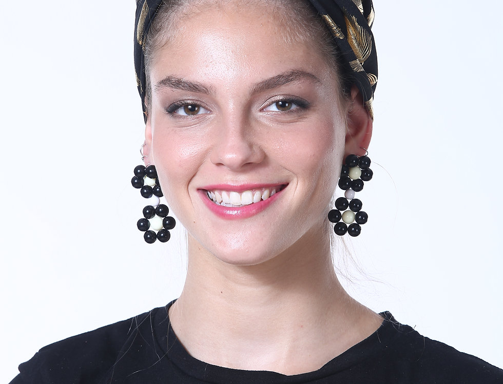 Partial/Full Turban - Silky Black Feathers
