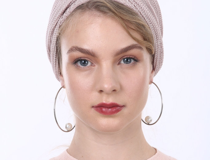 Partial/Full Knitted Turban - Nude