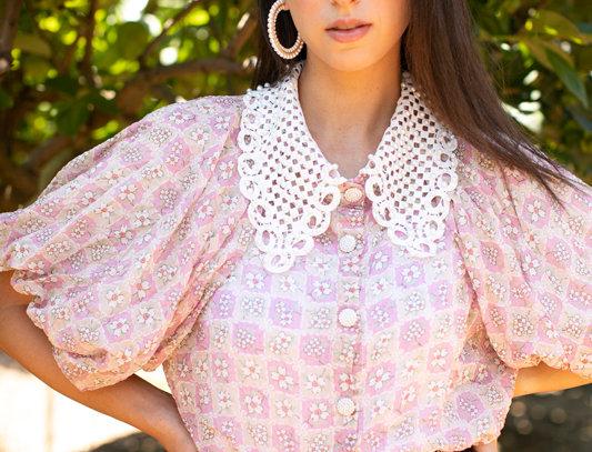 Pink pearls shirt