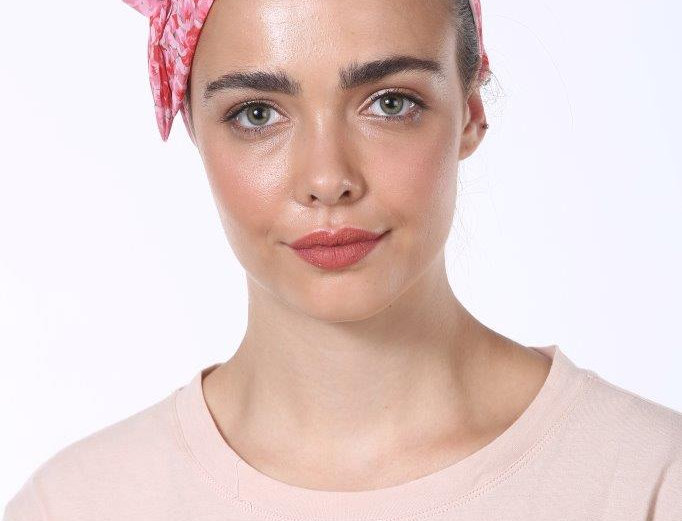 Partial/Full Bow Headband - Silky Pink Red Print
