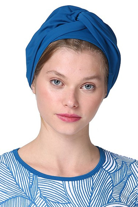 Blue Denim Swim Turban