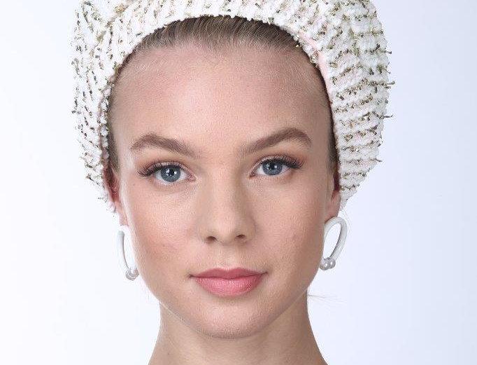 Partial/Full Volumized Turban - Velvet Knit White