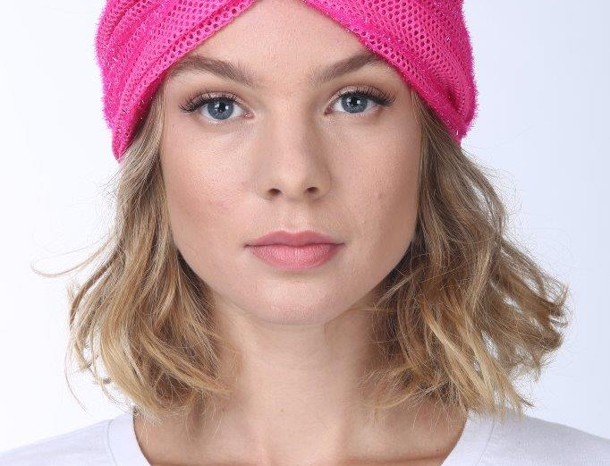 Thin Turban - Punched Pink Neon