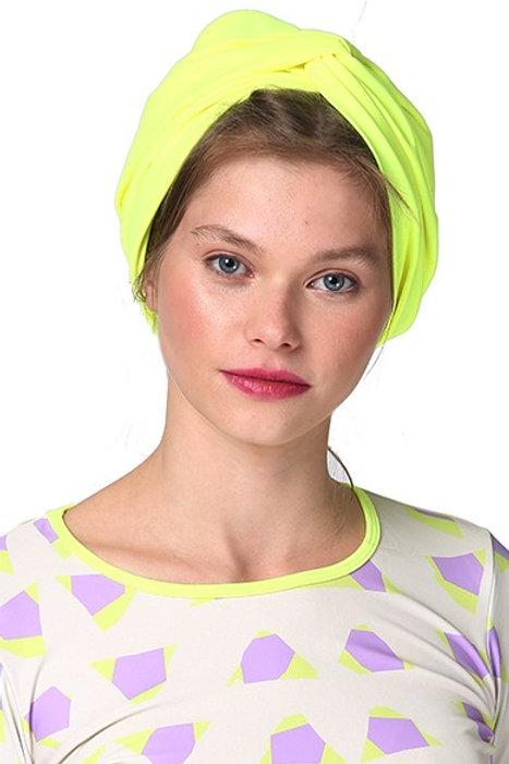 Yellow Neon Swim Turban