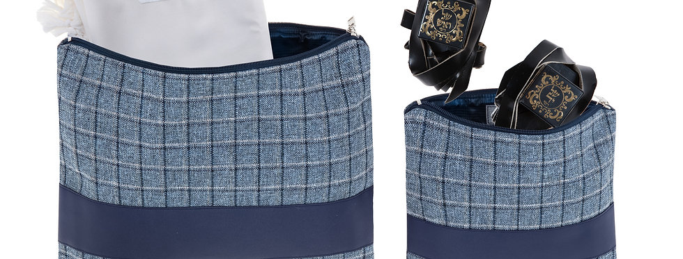 Set - Luxury Plaid Navy Blue