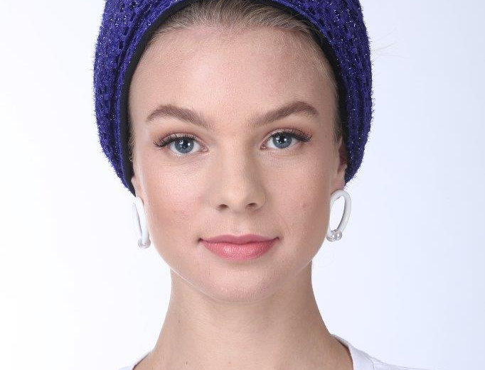 Partial/Full Turban - Punched Purple
