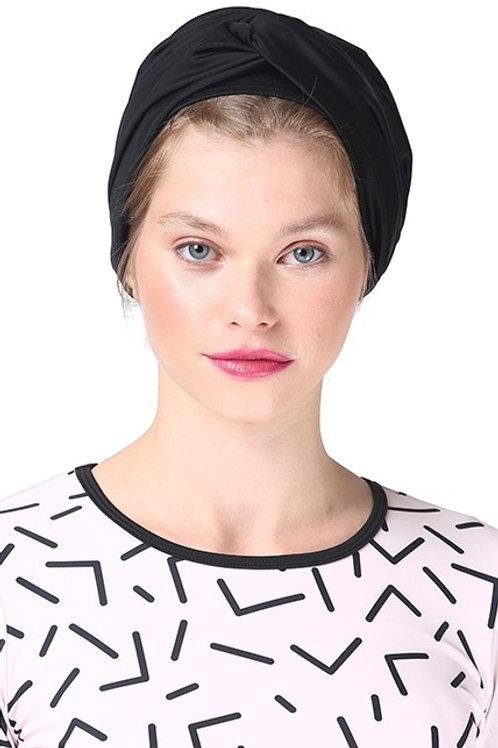 Black Swim Turban
