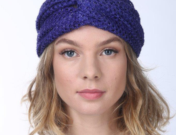 Thin Turban - Punched Purple