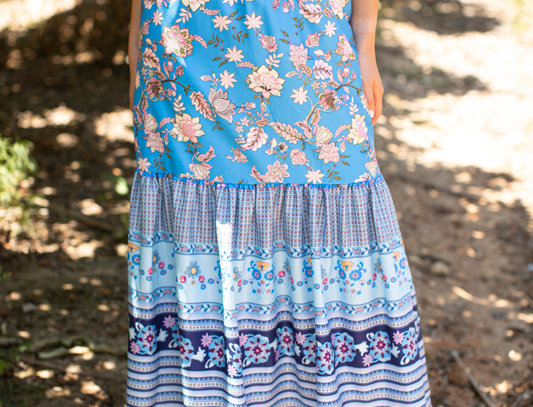 Blue flowers skirt