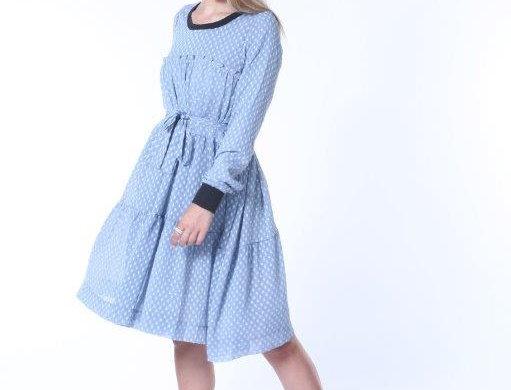 Ruffle Swing Midi Dress - Blue Bay