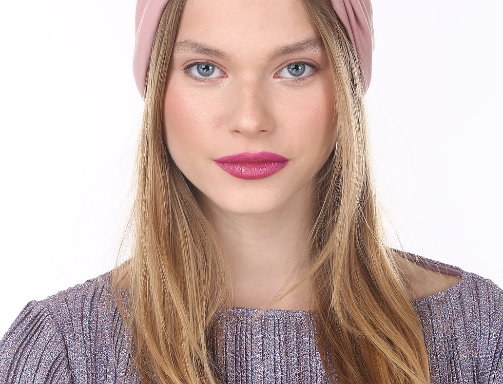 Thin Knot Turban - Basic Antique Pink