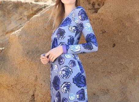 Blue Roses AK-Swim Dress