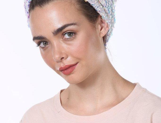 Partial/Full Turban - Sequins White
