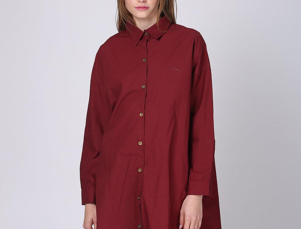 Oversize Button Rose Dress