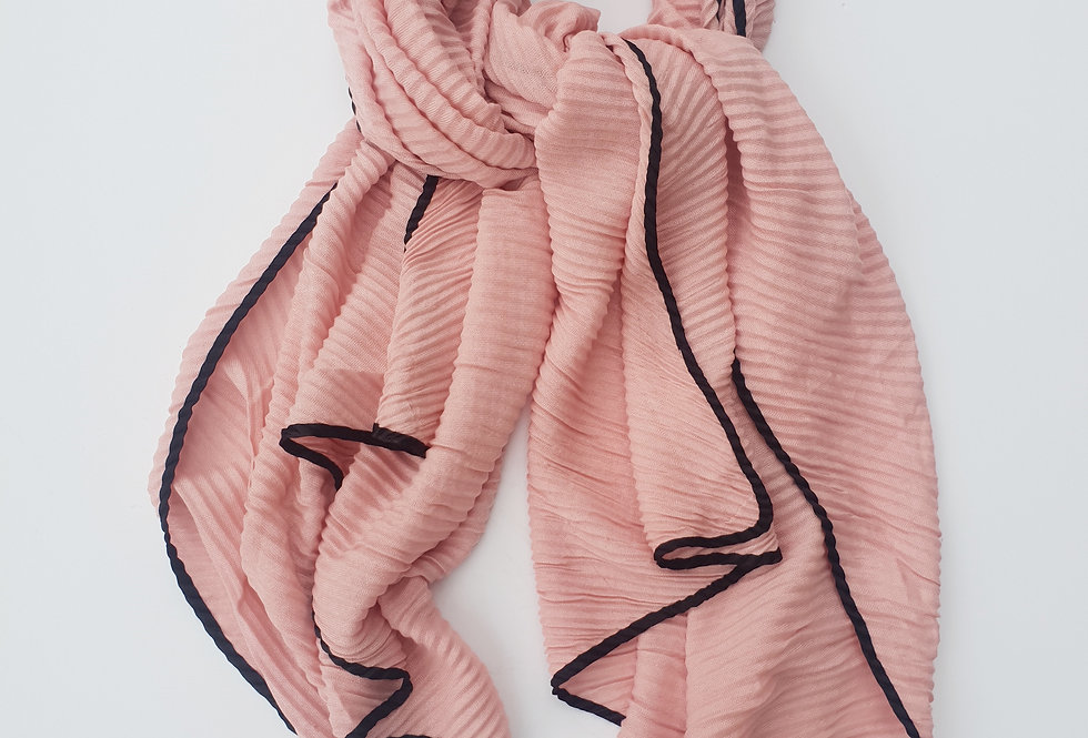 Scarf with Folds - Pink