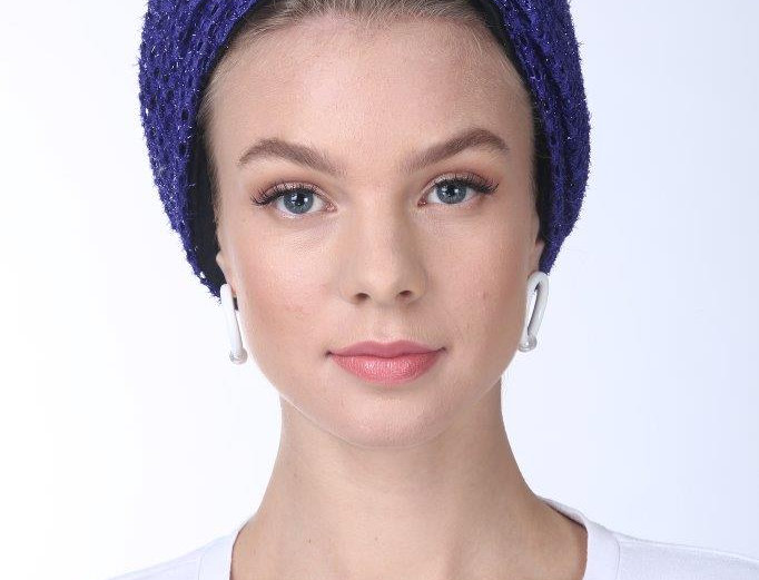 Partial/Full Volumized Turban - Punched Purple
