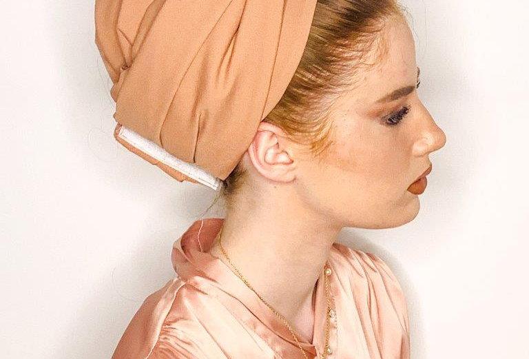 Knot Turban - Peach