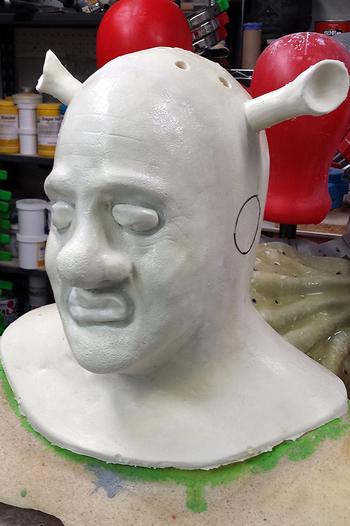 Unpainted Shrek Foam Latex Mask & Cowl