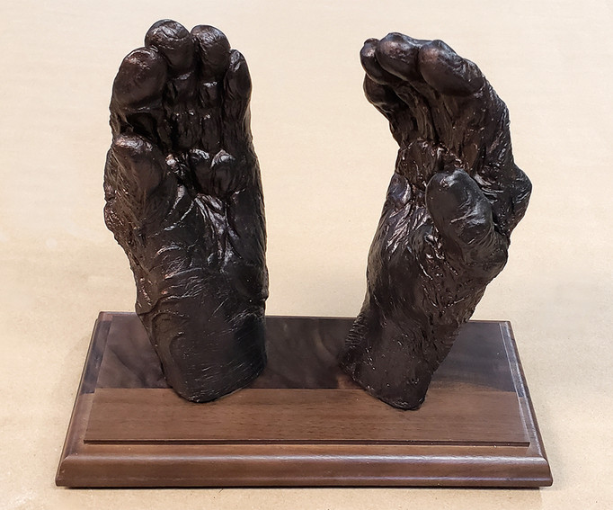 Memorial hand cast