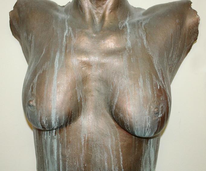 Cold-cast bronze lifecast