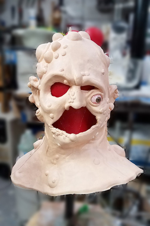 Unpainted 'Toxie' Foam Latex Prosthetic Mask for 'The Toxic Avenger'