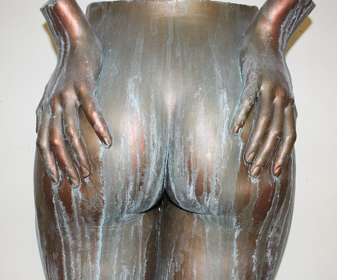 Cold-cast bronze with patina