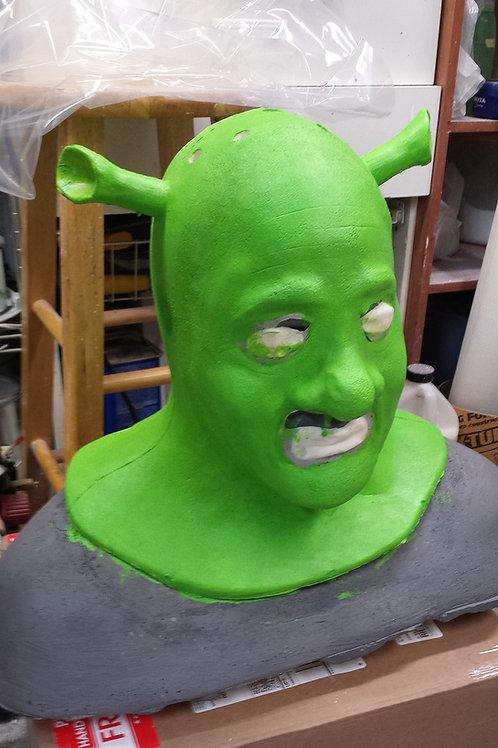 Shrek Foam Latex Mask & Cowl