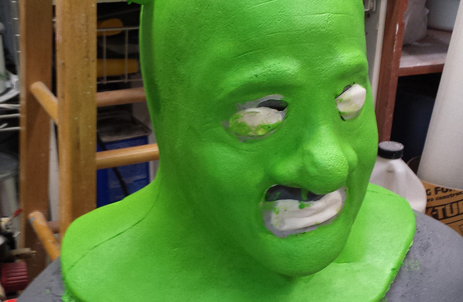 Foam latex Shrek prosthetic