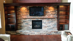 Finished Fireplace and Surround