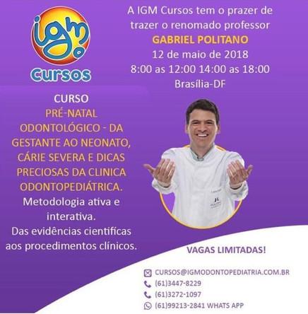 Odontologia prénatal e neonatal em Brasilia em 12-05-2018