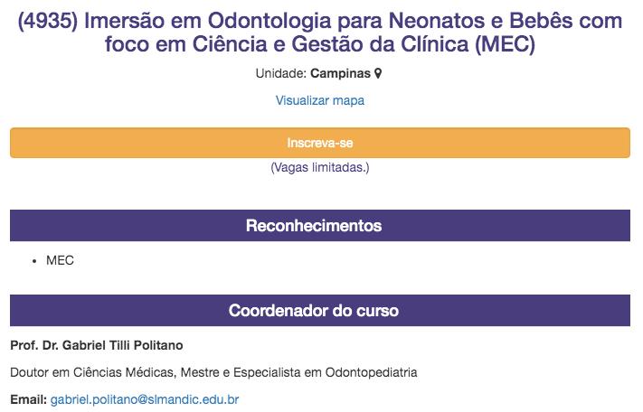 Dias 14 e15 de fevereiro de 2020 - Curso de Odontologia para neonatos e bebês, com ciência e gestão da clínica. INSCREVA-SE pelo site clicando AQUI