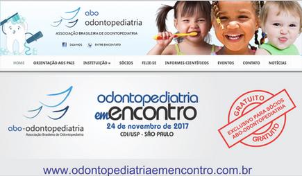 CURSO JÁ REALIZADO - Curso da Associação Brasileira de Odontopediatria em 24-11-2017